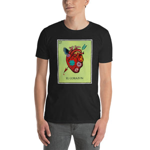 El Corazon Loteria Men's T-Shirt