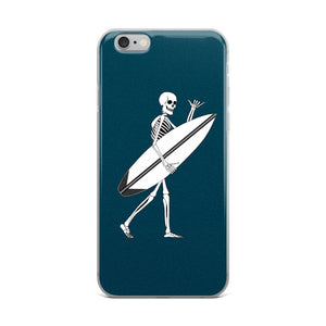 El Surfista Skeleton Shaka iPhone Case