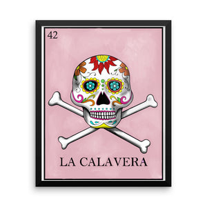 La Calavera Loteria Framed photo paper poster