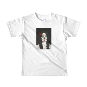 Catrina Dia de los Muertos (Day of the Dead) white kids 2-6 yrs t-shirt by Pilar Grother