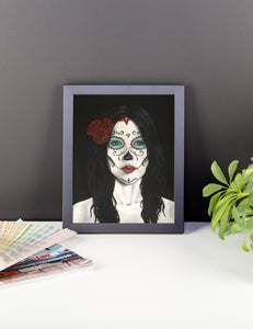 Catrina Day of the Dead Framed photo paper poster