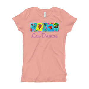 Las Damas Loteria Crop All-Over Girl's T-Shirt