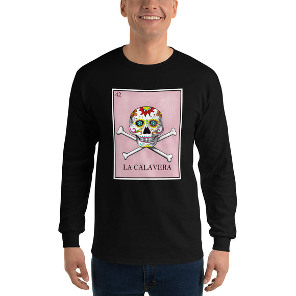 La Calavera Loteria Men's Long Sleeve T-Shirt