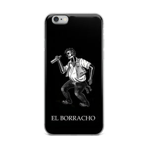 El Borracho Loteria B&W iPhone Case