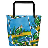 La Rana Loteria All-Over Beach Bag