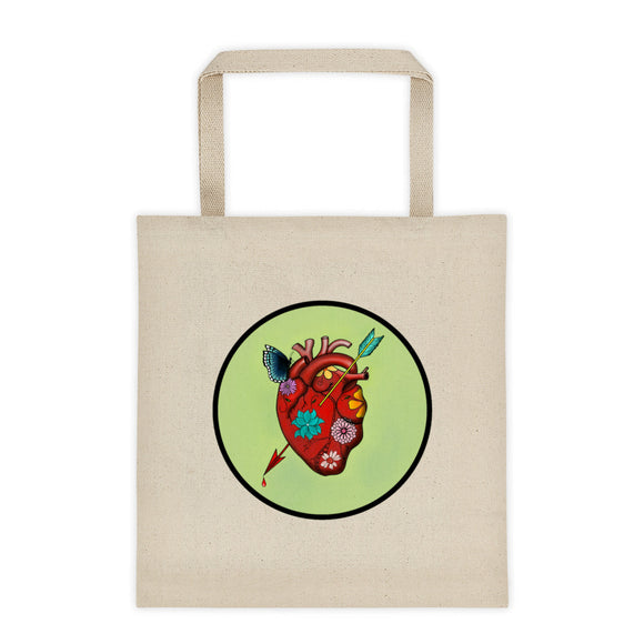 El Corazon Circle Tote bag 12oz