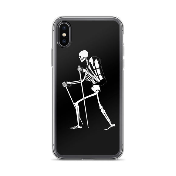 El Senderista (Hiker) Skeleton iPhone Case