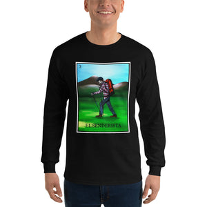 El Senderista (Hiker) Loteria Men's Long Sleeve T-Shirt
