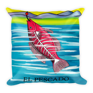 El Pescado Loteria Pillow