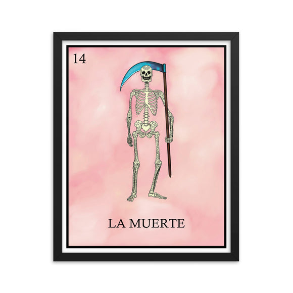 La Muerte Loteria Framed photo paper poster