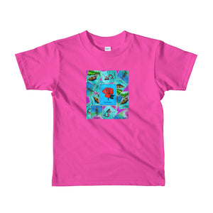 Las Damas Rosa Loteria All-Over kids2-6 yrs t-shirt