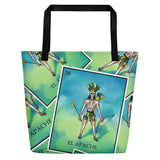 El Apache Loteria All-Over Beach Bag
