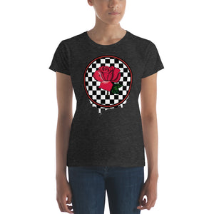 Rosa Dripping Checker Board Women's t-shirt