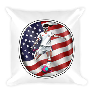 La Futbolista USA Women's Soccer pillow by Pilar Grother