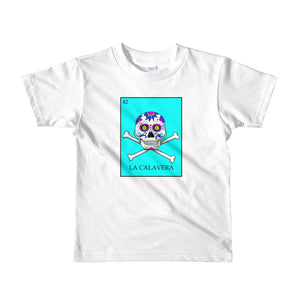La Calavera Loteria Pop Teal kids 2-6 yrs t-shirt