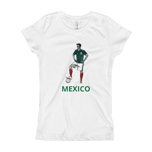 El Futbolista Mexico Plain Girl's T-Shirt