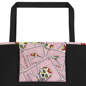 La Calavera Loteria All-over Beach Bag