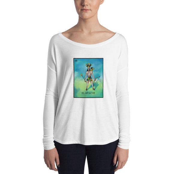 El Apache Loteria Womens Long Sleeve Tee