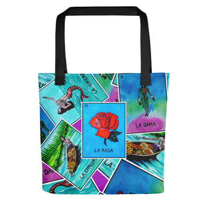 Las Damas Rosa Loteria All-Over Tote bag