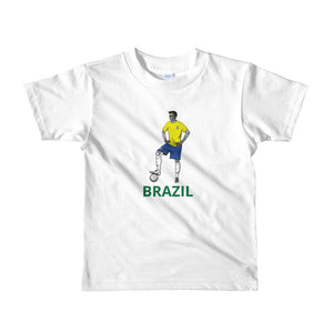 El Futbolista Brazil plain kids 2-6 yrs t-shirt
