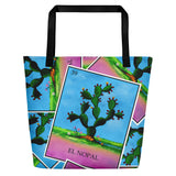 El Nopal Loteria All-Over Beach Bag