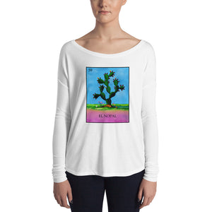 El Nopal Loteria Womens Long Sleeve Tee