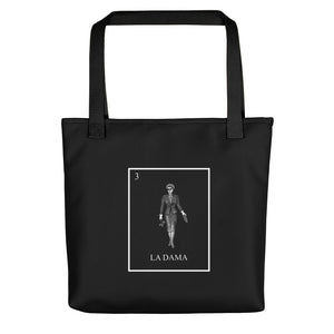 La Dama Loteria All-Over B&W Tote bag