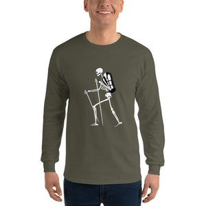 El Senderista (Hiker) Skeleton Men's Long Sleeve T-Shirt