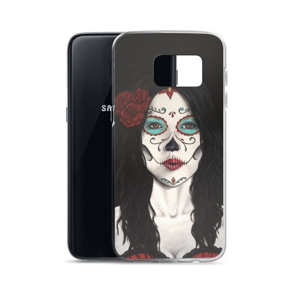 Catrina Dia de los Muertos (Day of the Dead) Samsung case by Pilar Grother