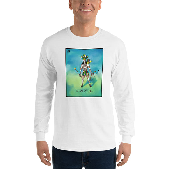 El Apache Loteria Mens Long Sleeve T-Shirt
