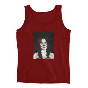 Catrina Dia de los Muertos (Day of the Dead) Women's Independence Red tank by Pilar Grother