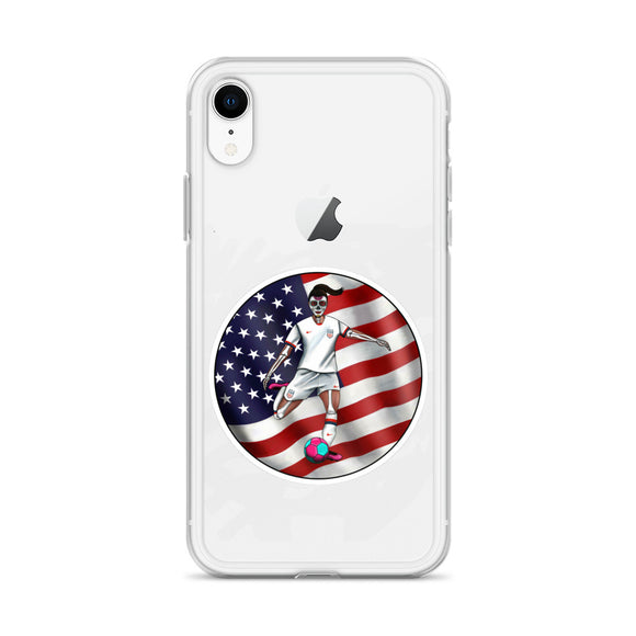 La Futbolista Loteria USA Women's Soccer iphone case by Pilar Grother