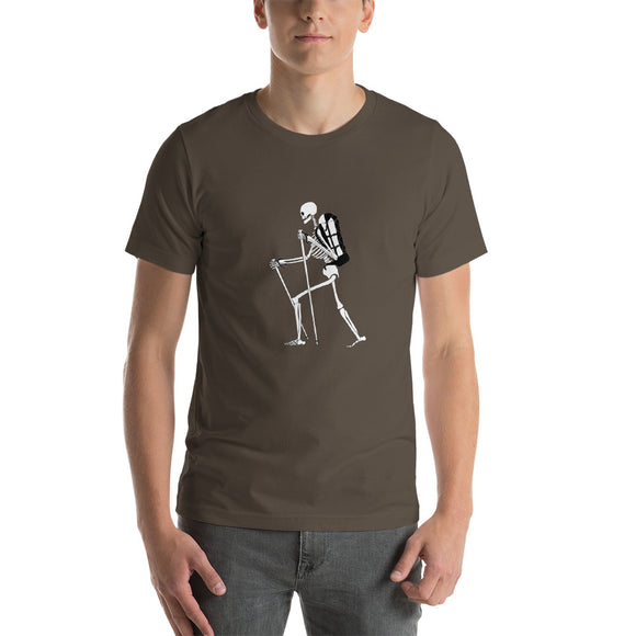 El Senderista (Hiker) Skeleton Men's T-shirt