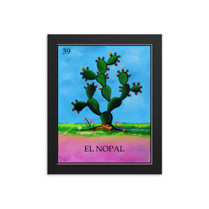 El Nopal Loteria Framed photo paper poster