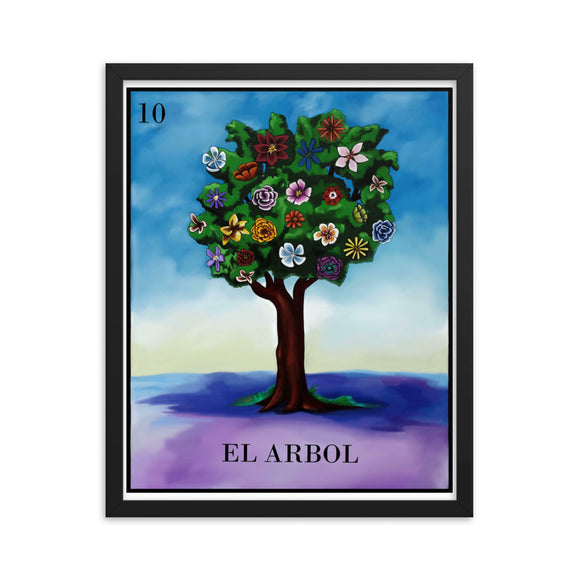 El Arbol Loteria Framed photo paper poster