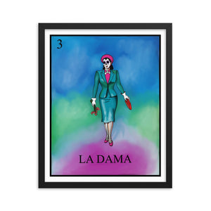 La Dama Loteria Framed photo paper poster