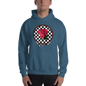 Rosa Dripping Checker Board Hoodie