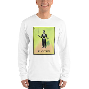 El Catrin Loteria men's long sleeve t-shirt pilar grother