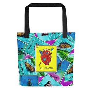 Las Damas Corazon Loteria All-Over Tote bag