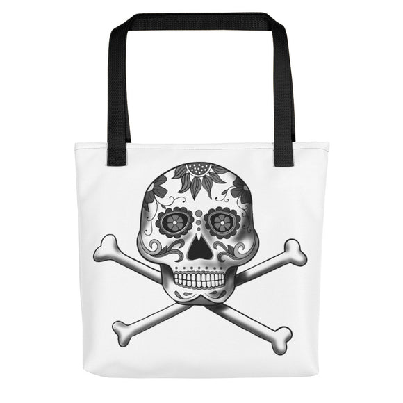 La Calavera Loteria B&W Plain All-Over Tote bag