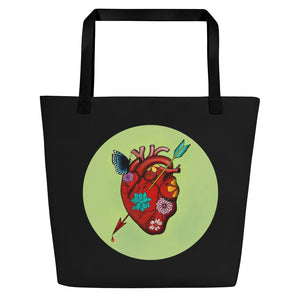 El Corazon Circle Beach Bag