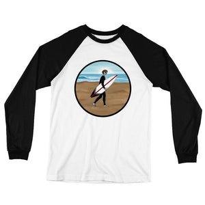 El Surfista Circle Men's Long Sleeve Baseball T-Shirt
