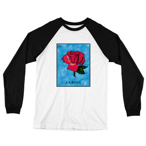 La Rosa Loteria Men's Long Sleeve Baseball T-Shirt