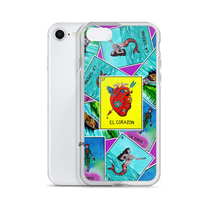 Las Damas Corazon Loteria All-Over iPhone Case