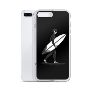 iphone case Black and White El Surfista (Surfer) Loteria Day of the Dead by Pilar Grother