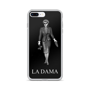 La Dama Lotera B&W iPhone Case