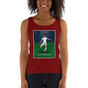 La Futbolista Loteria USA Women's Soccer Tank by Pilar Grother