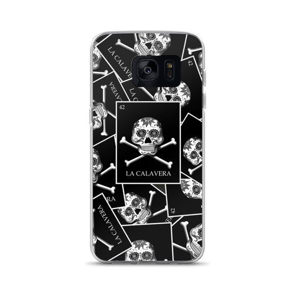 La Calavera Loteria B&W All-over Samsung Case
