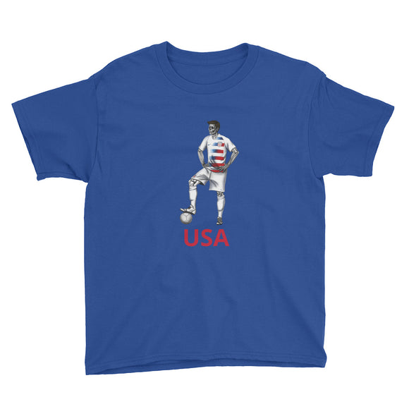 El Futbolista USA Plain Boy's T-Shirt