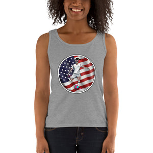 La Futbolista USA Women's Soccer Tank by Pilar Grother